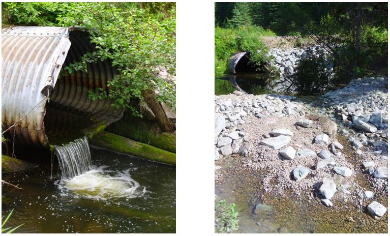 Hansard Creek Crossing - Before and After