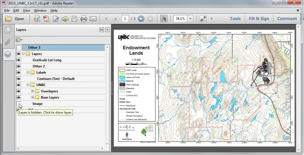 UNBC Forest Lands Maps Layer Control