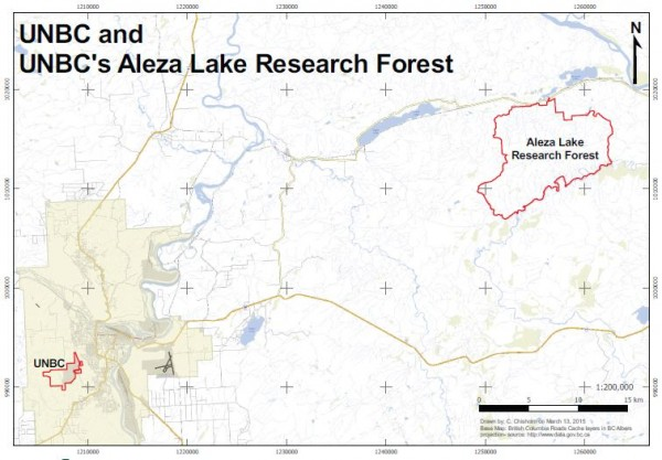 UNBC to Aleza Lake Research Forest
